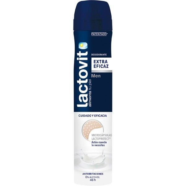 Lactovit desodorante spray Men Re-Fuerza y Protege 200 ml