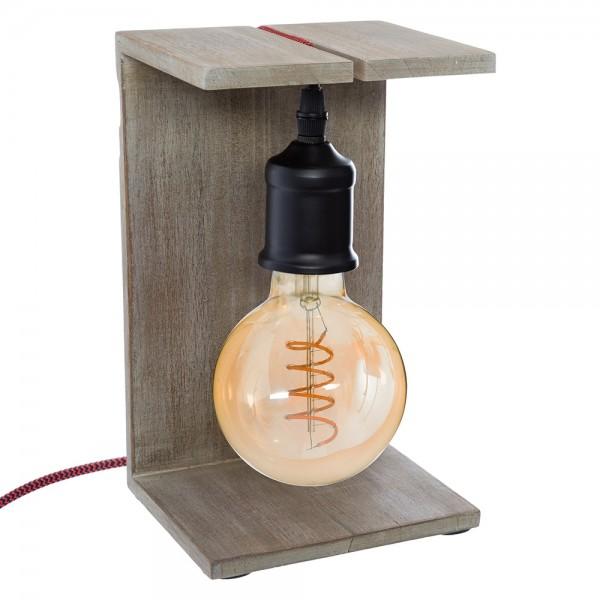 """Lámpara modelo """"caja"""" de madera colores surtidos e27"""