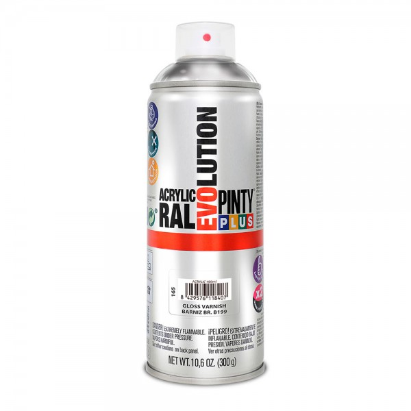 Pintura en spray pintyplus evolution 520cc  b199 barniz brillo